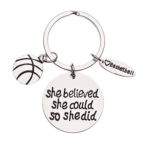 Infinity Collection Basketball Keychain- Basketball Gift- Basketball Jewelry for Girls, Perfect Basketball Gift for Players & Coaches -