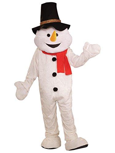 Forum Novelties Men's Plush Snowman Mascot Adult Costume, Multicolor, Standard -