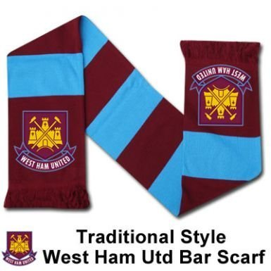 West Ham Bar Scarf - One Size by Club Licensed