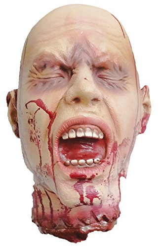 UHC Scary Haunted House Severed Head Party Decoration Latex Halloween (Latex Prop)