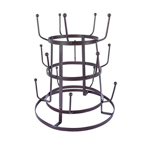 Home Traditions 3 Tier Vintage Metal Wire Mug Tree Stand, 10-15 Mug Capacity