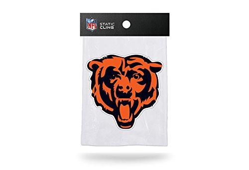 Rico NFL Chicago Bears Bear Head Logo Shape Cut Static Decal ()