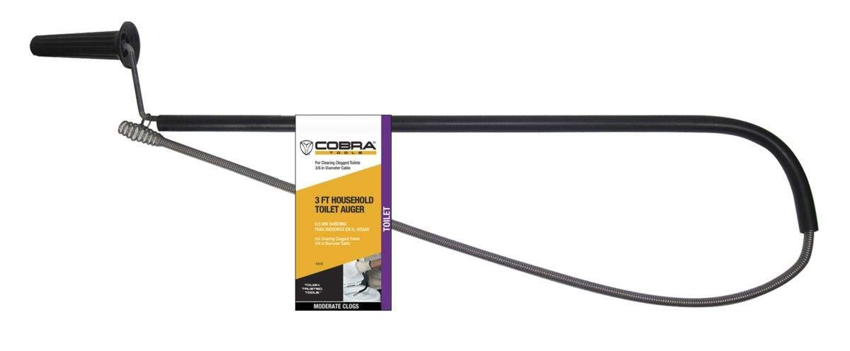 Cobra Products 40030 3/8-Inch by 3-Feet Home Toilet Auger, 3/8 in X 3 ft