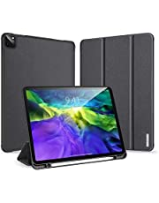 Case for New iPad Pro 11 2020, Support Apple Pencil Charging, Soft TPU Back with Pencil Holder, Trifold Stand Cover with Auto Sleep/Wake for iPad Pro 11 Inch (Black)