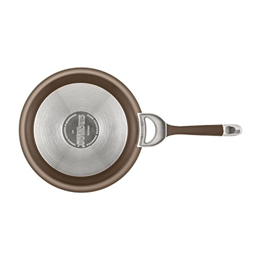 Circulon Symmetry Hard-Anodized Nonstick French Skillet Twin Pack, Chocolate