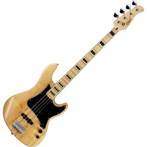 - Cort GB Series GB54JJ 4-String Electric Bass Guitar, Natural