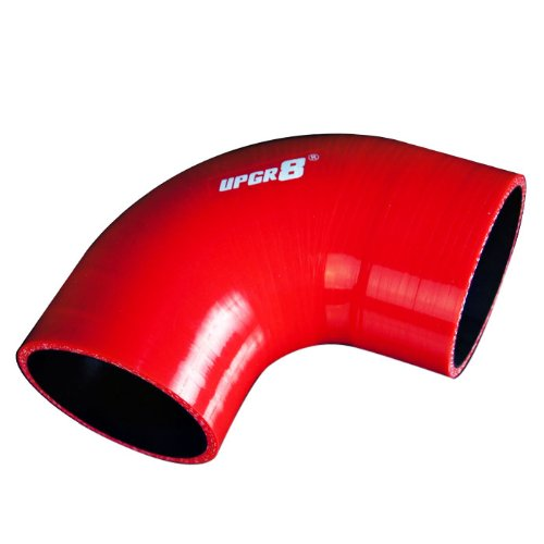 Eclipse Intercooler Piping - Upgr8 Universal 4-Ply High Performance 90 Degree Elbow Coupler Silicone Hose (3.0