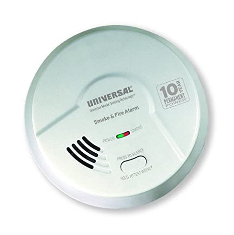Universal Security Instruments MI3050SB 2-in-1 Smoke and Fire Smart Alarm with 10 Year Sealed - Photoelectric Ionization Smoke Detectors