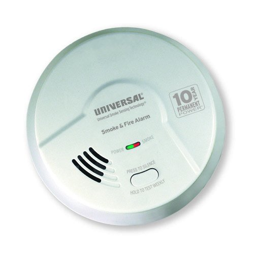 Universal Security Instruments MI3050SB 2-in-1 Smoke and Fire Smart Alarm with 10 Year Sealed Battery