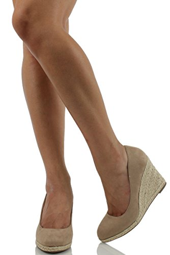 Round Delicious Wedge Toe Women's Espadrille Mua Phẩm Sản Slip Parma f7g6vYby