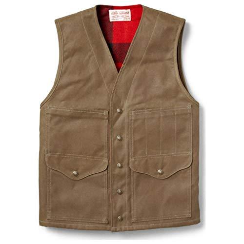 Filson Men's Lined Cruiser Vest - Dark Tan - Large ()