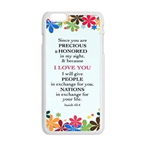 Generic Cell Phone Case For Iphone 6 Plus case Bible Verse Design Durable Plastic Protective Shell