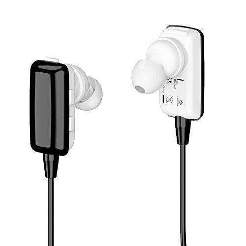 Wireless Sport Earpiece,ECSEM Sweatproof Earphones Noise Cancellation w/Mic for Fitbit Ionic Watch