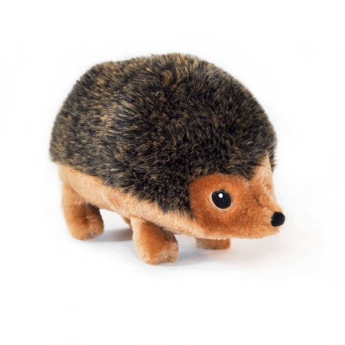 ZippyPaws 9-Inch Hedgehog Squeaky Plush Dog Toy, - Plush Squeaky