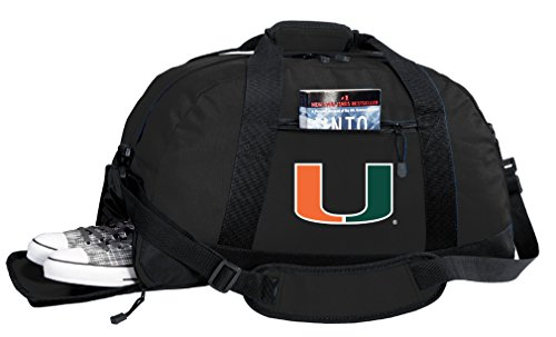 Broad Bay NCAA University of Miami Duffel Bag - Miami Canes Gym Bags w/SHOE POCKET by Broad Bay (Image #2)