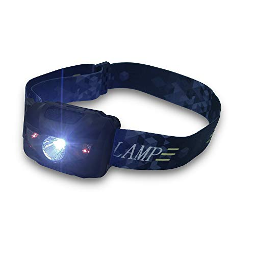 Ultra Bright 160 Lumen CREE LED Headlamp Flashlight, with Red Lights, Waterproof Head Lights for Kids and Adults Camping, Running, Batteries Included (Black)