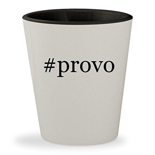 #provo - Hashtag White Outer & Black Inner Ceramic 1.5oz Shot - Provo Sunglasses