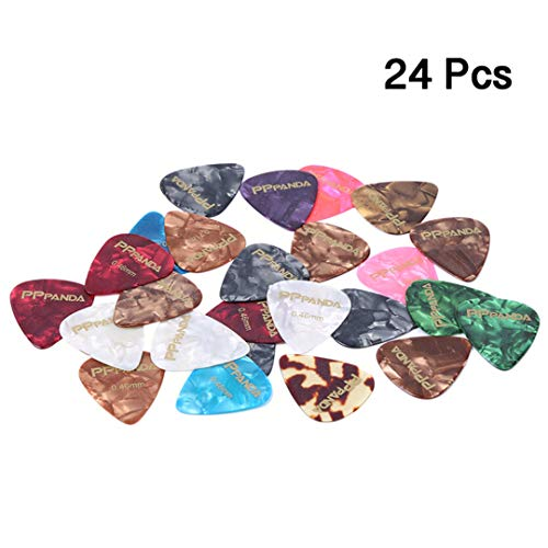 PPpanda Guitar Picks 24 pcs, Guitar Plectrums for Your Electric, Acoustic, or Bass Guitar Thin, Medium,0.46 0.71 mm ()