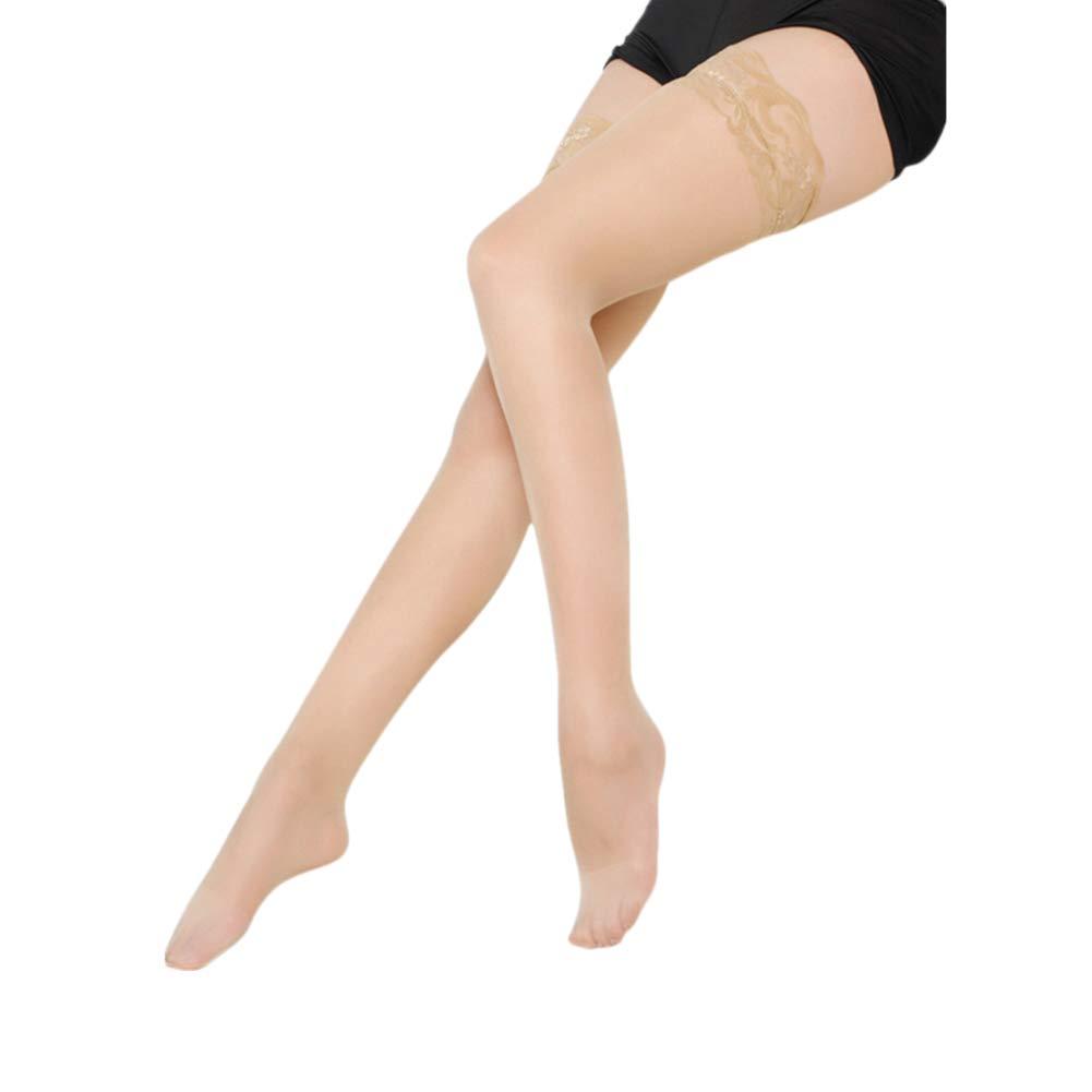 Drawihi Damen Spitze Strümpfe Strapsstrümpfe Hohe Halterlose Strümpfe elastische Strumpfhose 73 cm
