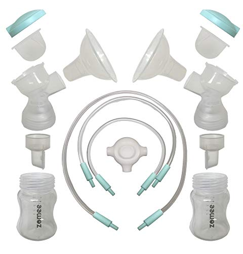 Zomee Breast Shield Kit Replacement Set (Double Pumping Set) Size 24mm