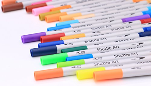 Shuttle-Art-56-Colors-Dual-Tip-Brush-Pens-Art-MarkersBrush-Tip-with-Fineliner-04-Markers-Pen-Set-for-Adult-coloring-books