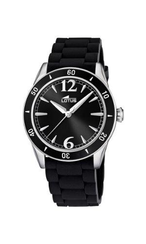 Lotus 15796/3 - Reloj analógico de cuarzo para mujer con correa de caucho, color negro: Lotus: Amazon.es: Relojes
