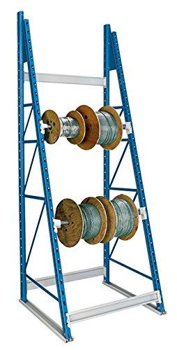 Hallowell Shelving, 10 Ft 3 In H - Reel Rack With 4 Axle Bracket Pairs - Adder, Rr-Dg-Xa, W X D X H: 36 X 36 X 123