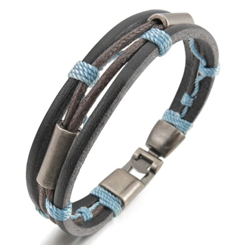 INBLUE Genuine Leather Bracelet Bangle
