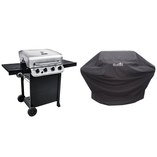Char-Broil Performance 475 4-Burner Cart Gas Grill- Stainless + Cover by Char-Broil (Image #1)