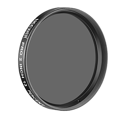 Neewer Pro 2 inches 13 Percent Transmission Neutral Density Moon Filter, Aluminum Frame Optical Glass Telescope Eyepiece Filter Helping Reduce Overall Brightness and Irradiation (Black)