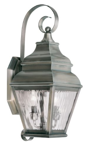 29 Exeter 2-Light Outdoor Wall Lantern, Vintage Pewter ()