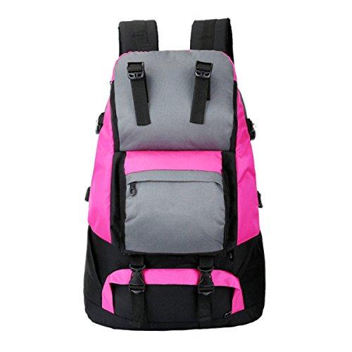 OGERT Al Aire Libre Del Alpinismo Del Turismo Hombro Mochila De Viaje Bolsa De Hombres Y Mujeres De Montar,Red Pink