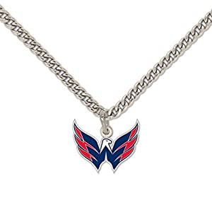 NHL Washington Capitals 31562010 Necklace with Charm Jewelry Card