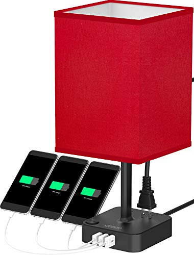 red and black lamps - 1
