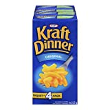 Kraft Dinner Original macaroni and Cheese (4 Pack)