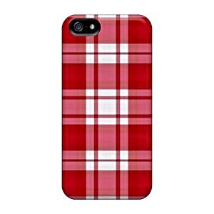 For Iphone 6 plus 5.5 With Red Plaid Plastic iphone Hd covers miao's Customization case