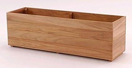 Amazon com : Teak wood planter flower herb window box garden