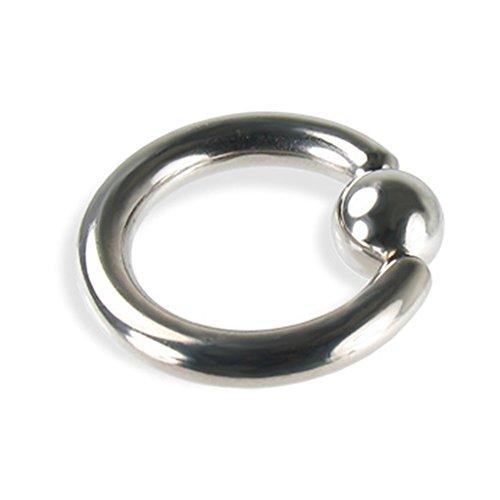 Solid Titanium Captive Ring (MsPiercing Titanium Captive Bead Ring, 8 Ga, 3/4