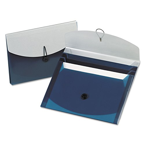 Wallet Document Pendaflex Letter Esselte (Pendaflex 50965 Four-Pocket Slide File Wallet Letter Polypropylene Blue/Silver)