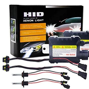 Uniqus 55W 9006 HB4 4300K HID Xenon Light Conversion Kit with High Intensity Discharge Alloy Slim Ballast, Warm White