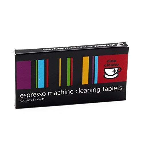 Cino Cleano Espresso Machine Cleaning Tablets 8 Count (Breville Cleaning Tablets)