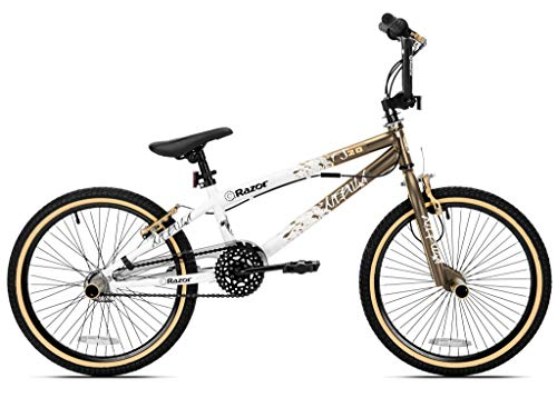 Razor 82034 Nebula Single Speed 20-Inch Wheel Freestyle Trick BMX Bike, Gold