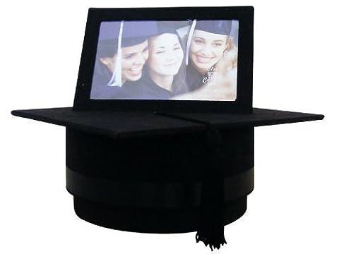 Black Suede Graduation Hat/Box style 4