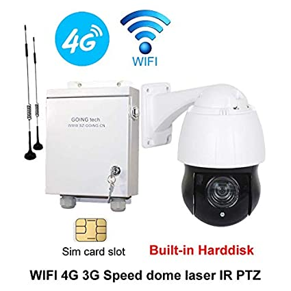 e2e72e309a6 Image Unavailable. Image not available for. Color  Going tech Wireless WiFi  3G 4G Security PTZ IP Camera with sim Card ...
