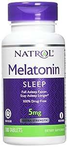 Natrol Melatonin Time Release 5mg Tablets 100 ea ( Packs of 2)