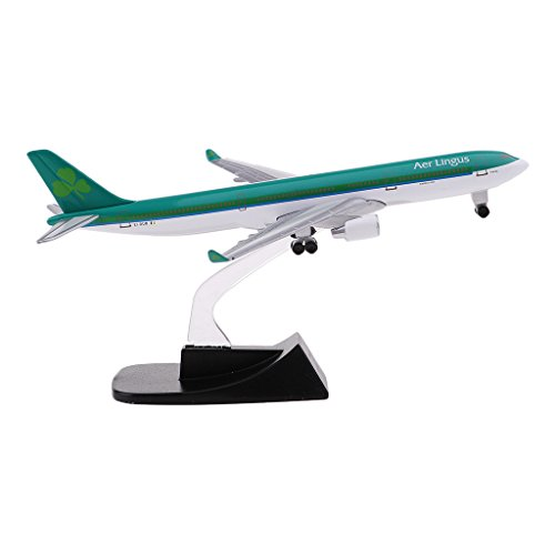 D DOLITY Alloy Aircraft Models Aer Lingus 330 Airbus Airplane Model with Wheels Stand