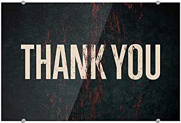 5-Pack 18x12 Thank You CGSignLab Ghost Aged Rust Premium Acrylic Sign
