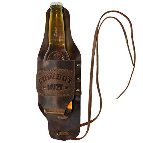 Hide & Drink, Cowboy Buzy Beer Holster Hops Design/Beer Lover Essentials/Party Accessories, Handmade :: Bourbon Brown -