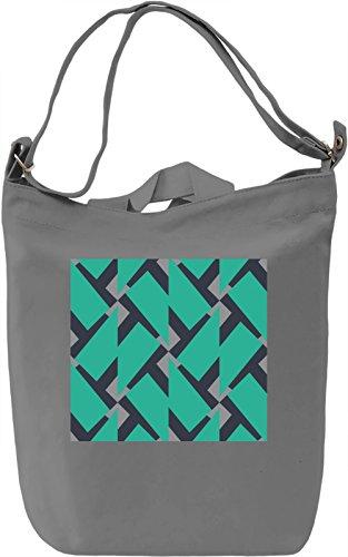 Abstract Colorful Print Borsa Giornaliera Canvas Canvas Day Bag  100% Premium Cotton Canvas  DTG Printing 