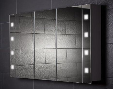 Galdem Spiegelschrank Cube120 Grosser Badezimmerschrank 120cm 3